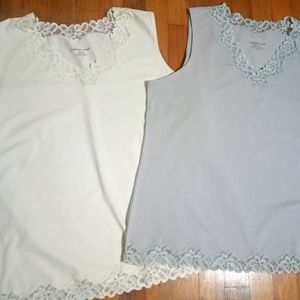 COLDWATER CREEK Bundle Lace Tank Tops Sz.1X